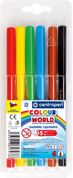 Flamastry Colour World 7550